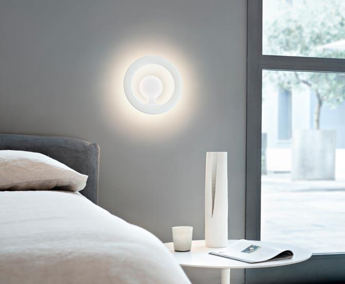 lampenb rse flos orotund wandleuchte weiss. Black Bedroom Furniture Sets. Home Design Ideas